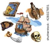 freehand pirate set for your... | Shutterstock .eps vector #428327851