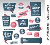 vintage labels set   origami... | Shutterstock .eps vector #428328985