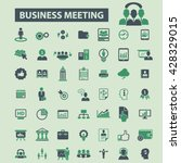 business meeting icons    Shutterstock .eps vector #428329015