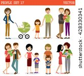 vector set of people with... | Shutterstock .eps vector #428330341
