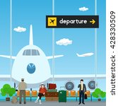 airport   a waiting room with... | Shutterstock .eps vector #428330509