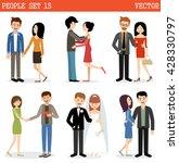 vector set of people. love ... | Shutterstock .eps vector #428330797