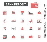 bank deposit icons  | Shutterstock .eps vector #428331979