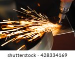 drill with diamond tipped... | Shutterstock . vector #428334169
