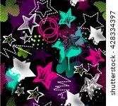 grunge seamless pattern for... | Shutterstock .eps vector #428334397