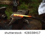 handmade forging of the knife... | Shutterstock . vector #428338417