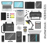 group computer office equipment.... | Shutterstock .eps vector #428341321