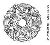 flower mandala for cards ... | Shutterstock .eps vector #428342701