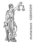 themis goddess of justice.... | Shutterstock .eps vector #428345359