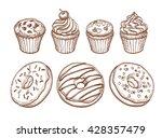 pastry sweets sketch set...   Shutterstock .eps vector #428357479