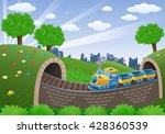 illustration of a train... | Shutterstock . vector #428360539