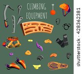 rock climbing equipment and... | Shutterstock .eps vector #428362381