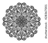 vector mandala. ethnic... | Shutterstock .eps vector #428367001