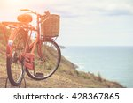 red japan style classic bicycle ... | Shutterstock . vector #428367865