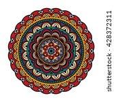 bright colored mandala print... | Shutterstock .eps vector #428372311