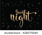 good night inscription.... | Shutterstock .eps vector #428375044
