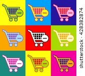 vector shopping cart remove... | Shutterstock .eps vector #428382874