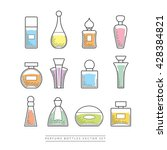 multicolored perfume bottles... | Shutterstock .eps vector #428384821