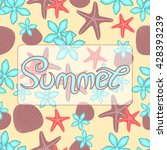 summer background with text.... | Shutterstock .eps vector #428393239