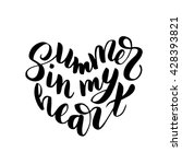 summer in my heart   hand drawn ... | Shutterstock .eps vector #428393821
