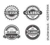 vintage label template | Shutterstock .eps vector #428395444