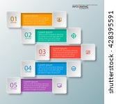 vector abstract 3d paper... | Shutterstock .eps vector #428395591
