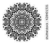 mandala. black round ornament.... | Shutterstock .eps vector #428401531
