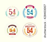 54 years anniversary set with... | Shutterstock .eps vector #428403007