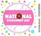 national doughnut day | Shutterstock . vector #428408884