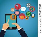 mobile tools icon set design | Shutterstock .eps vector #428409001