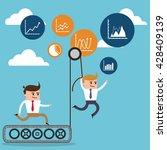 businesspeople cartoon design   Shutterstock .eps vector #428409139