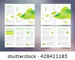 business brochure set design... | Shutterstock .eps vector #428411185