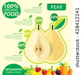 pear. infographic template....   Shutterstock .eps vector #428412241