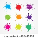 paint splatters.hand drawn... | Shutterstock .eps vector #428415454