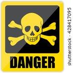 danger sign. vector | Shutterstock .eps vector #428417095