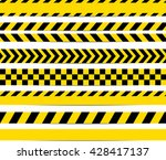 yellow with black police line... | Shutterstock .eps vector #428417137