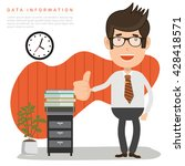 businessman employee concept... | Shutterstock .eps vector #428418571