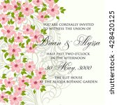 wedding invitation card with... | Shutterstock .eps vector #428420125