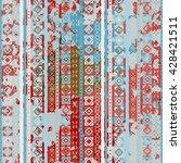 ethnic boho seamless pattern.... | Shutterstock .eps vector #428421511