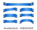 ribbon banners set. sign blank... | Shutterstock .eps vector #428424265