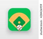 square icon of baseball sport.... | Shutterstock .eps vector #428426959