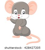 cute mouse cartoon waving | Shutterstock .eps vector #428427205