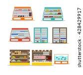 Vector Set Of Store Shelf....
