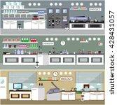 laboratory vector illustration. ... | Shutterstock .eps vector #428431057