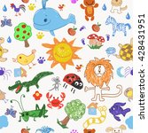 childrens drawing doodle...   Shutterstock .eps vector #428431951