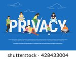privacy concept illustration of ...   Shutterstock .eps vector #428433004