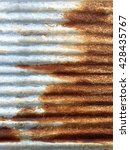 old rusty galvanized iron wall... | Shutterstock . vector #428435767