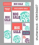 set of sale creative banners.... | Shutterstock .eps vector #428436607