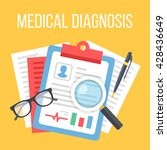 medical diagnosis flat... | Shutterstock .eps vector #428436649