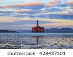 semi submersible oil rig at... | Shutterstock . vector #428437501